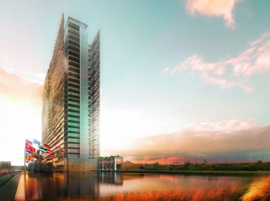 Copijn heeft voor European Patent Office een daklandschap (daktuin) boven een parkeergarage en een tropische binnentuin bij de hoofdentree gerealiseerd.