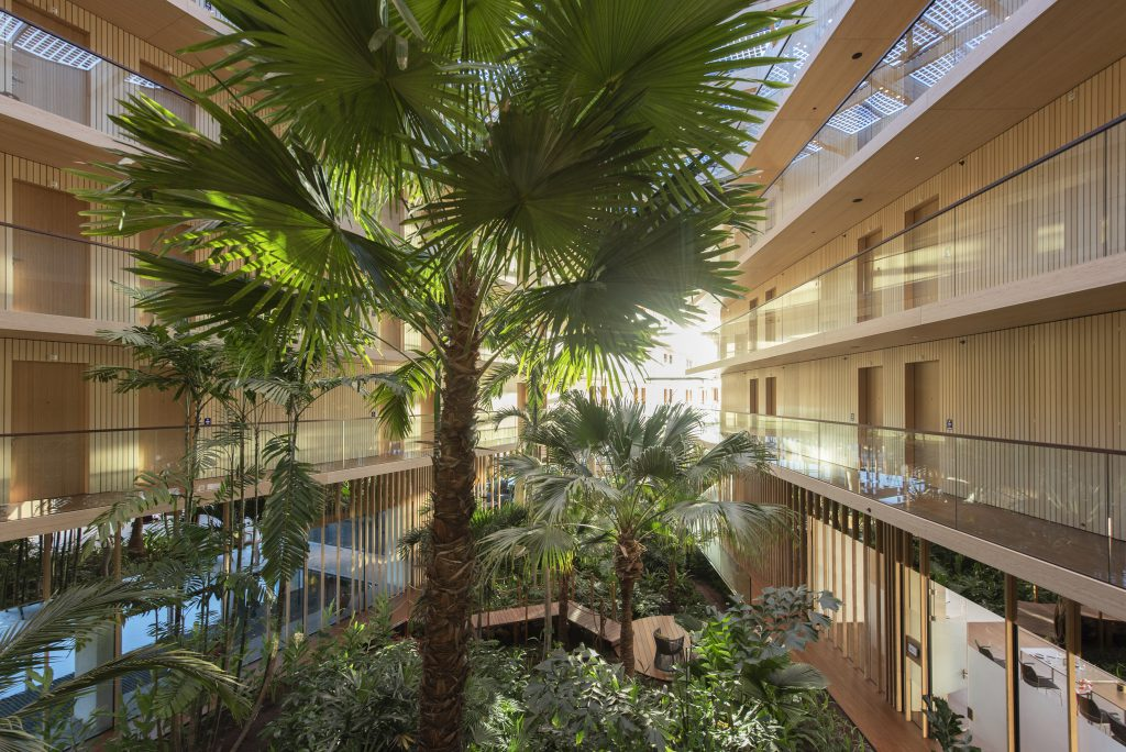 Hotel jakarta subtropische binnentuin interieurbeplanting for Design hotel jakarta