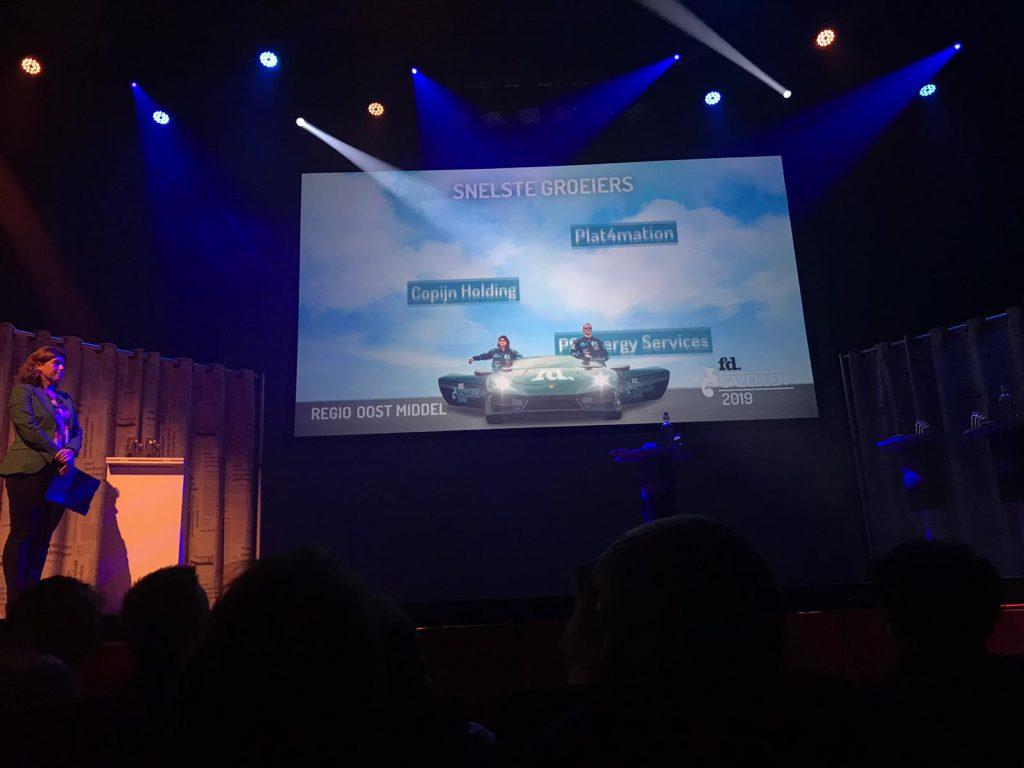 FD Gazellen 2019 award presentatie Copijn