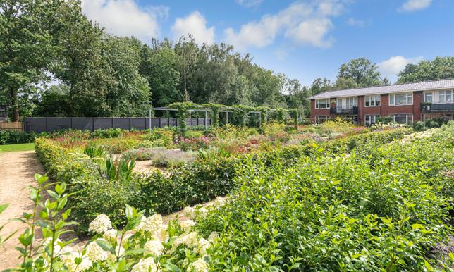 collectieve tuin wooncomplex Rijnweide door Copijn